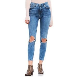 Free People NWT High Rise Busted Skinny Jeans